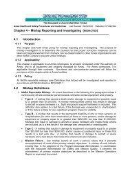 Chapter 4 – Mishap Reporting and Investigating ... - NASA