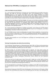 Wahlaufruf der FDP-NRW zur Landtagswahl am 13 - FDP Paderborn