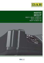 Inverter MCE/P - Dab Pumps