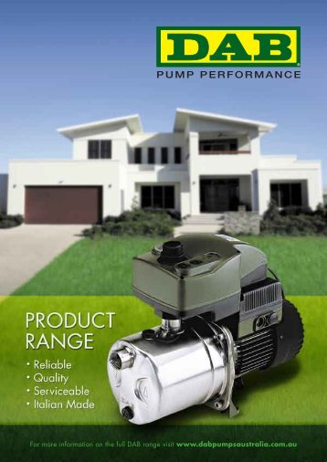 For more information on the full DAB range visit www ... - Dab Pumps