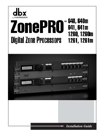 ZonePRO Install Guide-English - dbx