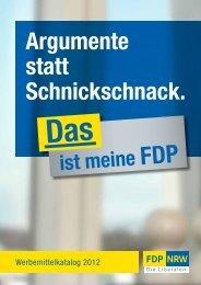 Werbemittelkatalog 2012 - FDP NRW