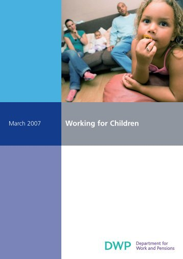 Working for children - Welfare Reform impact assessments