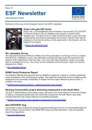 ESF Newsletter - Department for Work and Pensions