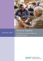 Working Together - Welfare Reform impact assessments