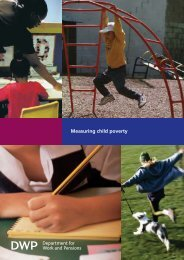 Measuring child poverty - Welfare Reform impact assessments