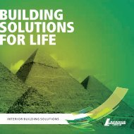 BUILDING SOLUTIONS FOR LIFE