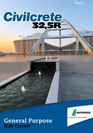 Civilcrete brochure - Lafarge in South Africa