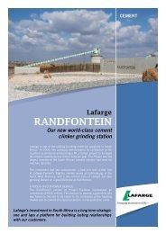 Randfontein Brochure - Lafarge in South Africa