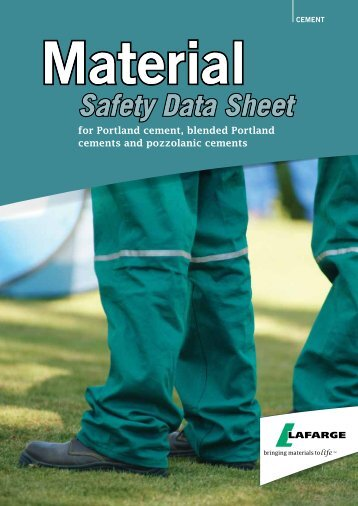 Material Safety Data Sheet - Lafarge in South Africa