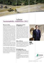 Sustainability Ambitions 2012