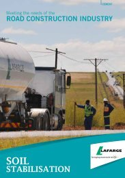 Roadcem brochure - Lafarge in South Africa
