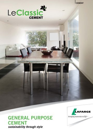 GENERAL PURPOSE cEmENt - Lafarge in South Africa