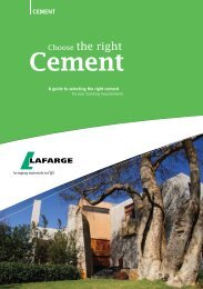 Choose The Right Cement Brochure - Lafarge in South Africa