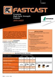 Fastcast Datasheet - Lafarge in South Africa
