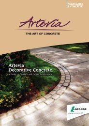 Artevia Decorative Concrete - Lafarge in South Africa