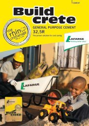 Buildcrete Brochure - Lafarge in South Africa