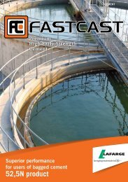 Fastcast brochure - Lafarge in South Africa