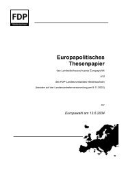 Europapolitisches Thesenpapier - FDP Niedersachsen