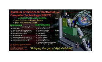 Department of Electronics Engineering Technology - Iligan Institute ...