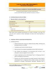 Linha de Crédito PME Crescimento - Documento informativo