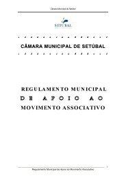 MOVIMENTO ASSOCIATIVO - Câmara Municipal de Setúbal