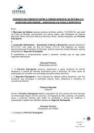 CONTRATO DE COMODATO ENTRE A CÂMARA MUNICIPAL DE ...