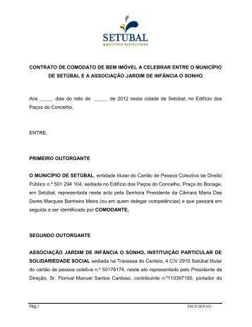 CONTRATO DE COMODATO DE BEM IMÓVEL A CELEBRAR ...