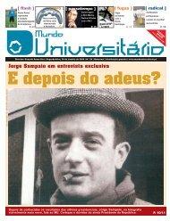 Jorge Sampaio em entrevista exclusiva - Mundo Universitário