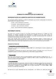 anexo i normas de apresentação de elementos representação de ...