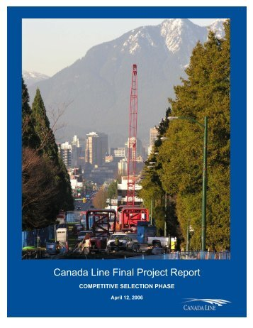 Canada Line Final Project Report - Partnerships British Columbia