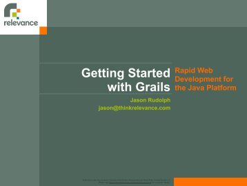 Getting Started with Grails - Huihoo