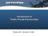 P3s in BC - Partnerships British Columbia