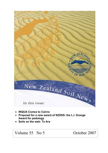 Excursion report by em prof r langohr soil science for American society of soil science