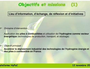 Propositions de modes de fonctionnement - Claude Derive ...