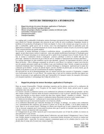 Moteurs thermiques à hydrogène - Association française de l ...