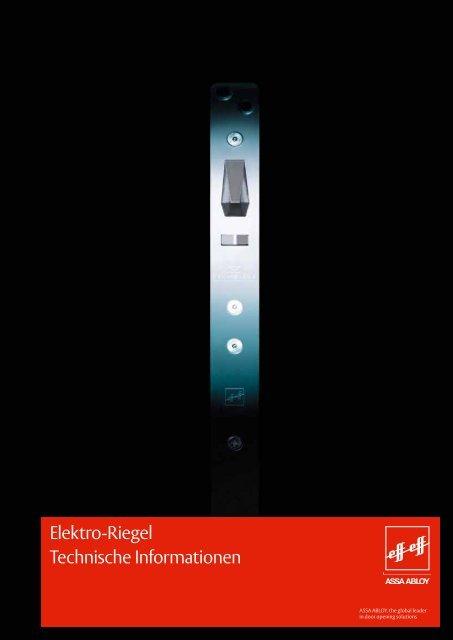 Elektro-Riegel Katalog - Ikon