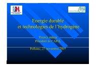 Energie durable et technologies de l'hydrogène - Association ...