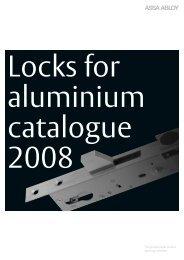 Locks for aluminium - Ceco Door Products