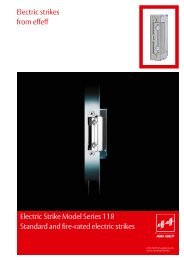 Electric Strike Model Series 118 Standard and fire ... - Assa Abloy