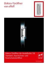 Elektro-Türöffner von effeff - Felgner Sicherheitstechnik GmbH & Co ...