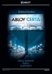Download brochure - Abloy