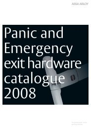 Panic exit devices - Ceco Door Products