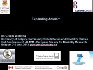 Expanding Ableism: - Community Rehabilitation and Disability Studies