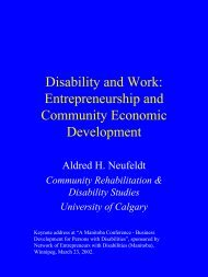 Entrepreneurship and Community Economic Development