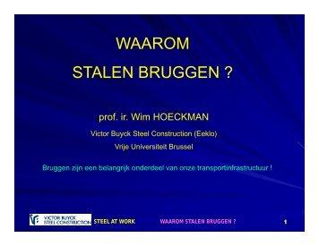 WAAROM STALEN BRUGGEN ? - Infosteel