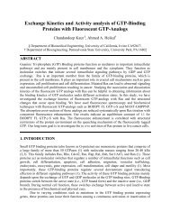 Exchange Kinetics and Activity analysis of GTP-Binding Proteins ...