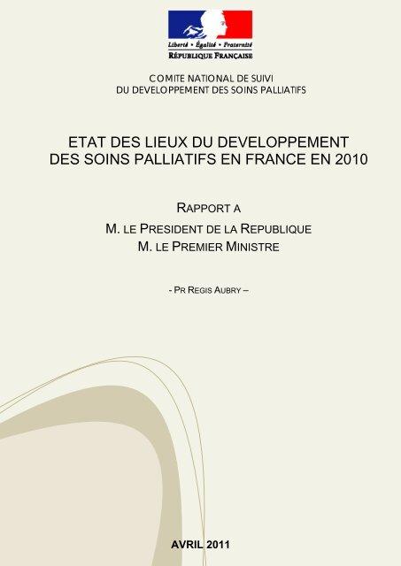 etat des lieux du developpement des soins palliatifs en france en 2010