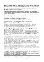 protocole du 18 avril 2006 relatif aux regles de prises en ... - Le Monde