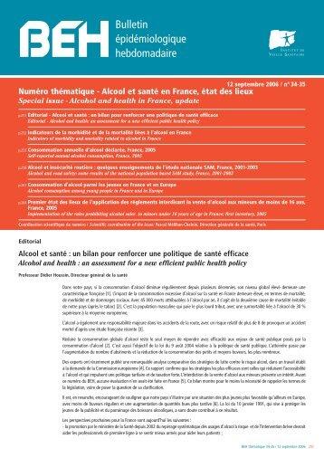 BEH n°34-35 du 12 septembre 2006 - Institut de veille sanitaire